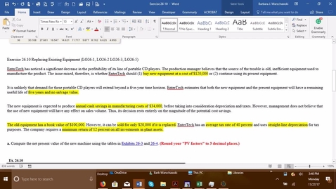 Thumbnail for entry 212064 Introductory Accounting 2 - Problem Demo Exercise 26-10