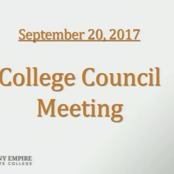 Thumbnail for channel College Council Meetings