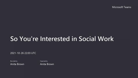 Thumbnail for entry SUNY Empire Careers In: So You're Interested in Social Work 2021