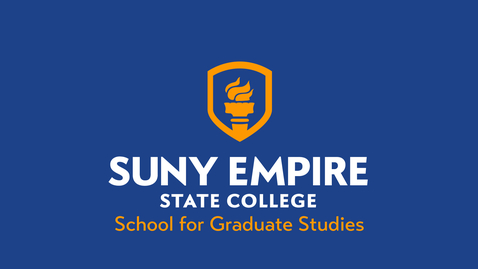 Thumbnail for entry School for Graduate Studies - 2021 SUNY Empire Virtual Summer Commencement