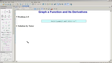 Thumbnail for entry Solution 3-5 Graph f and its derivatives