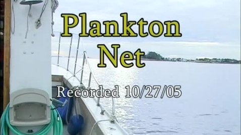 Thumbnail for entry Plankton Net  (Module 3)