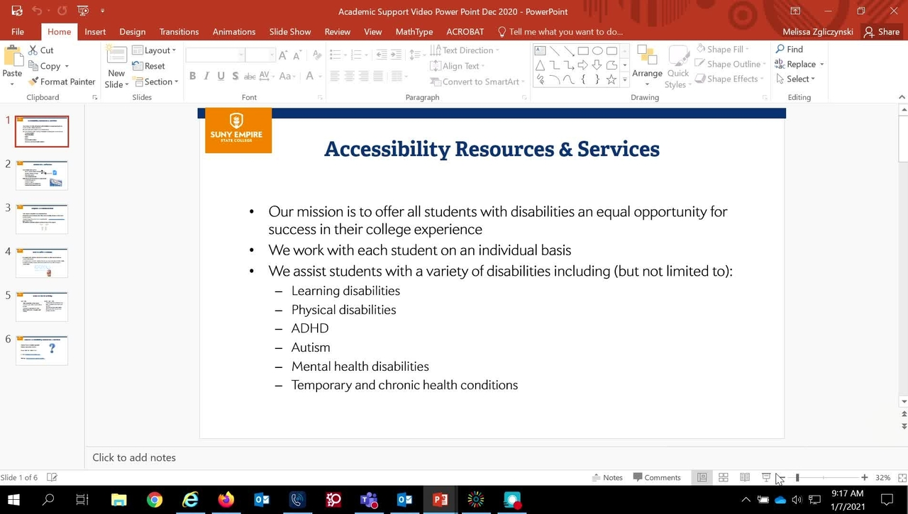 How  to Refer a Student to Accessibility Resources