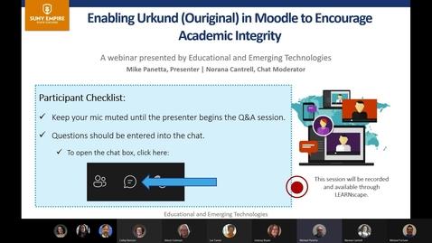 Thumbnail for entry URKUND demo from EET April 2021 Faculty Webinars