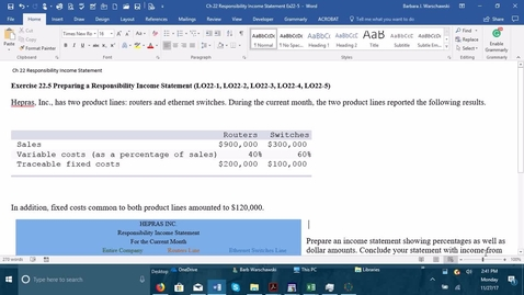 Thumbnail for entry 212064 Introductory Accounting 2 - Problem Demo Exercise 22-5