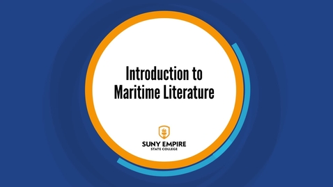 Thumbnail for entry Introduction to Maritime Literature