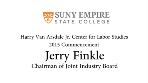 Thumbnail for entry 2015 HVACLS Commencement - Jerry Finkle Chairman of the Industry Board