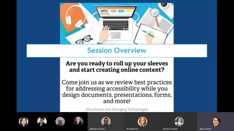 """Thumbnail for entry """"Crafting Accessible Content Online"""" Webinar"""