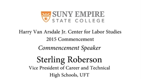 Thumbnail for entry 2015 HVACLS Commencement Speaker - Sterling Roberson