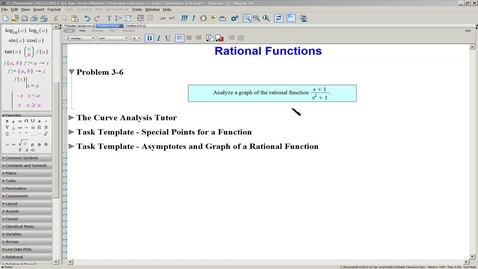 Thumbnail for entry Solution 3-6(a) Rational Function-Curve Analysis Tutor