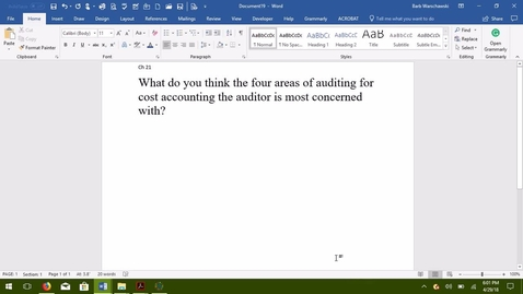 Thumbnail for entry AUDITING--M07 Four Areas of Auditing for Cost Accounting