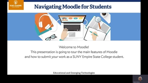 Thumbnail for entry Navigating Moodle for Students
