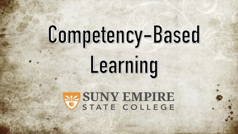 Thumbnail for entry Introduction to Competency Based Learning