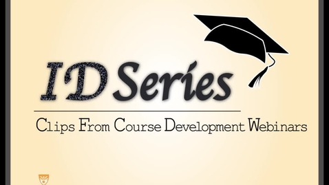 Thumbnail for entry Accessibility in Course Design Webinar Clip #1: 4 Rs, Research Laws and Types of Disabilities