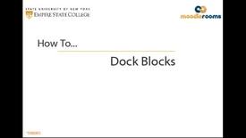 Thumbnail for entry Docking Blocks - Student Video
