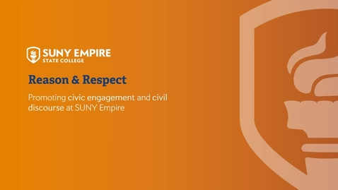 Thumbnail for entry SUNY Empire State College Reason and Respect Initiative Kick Off