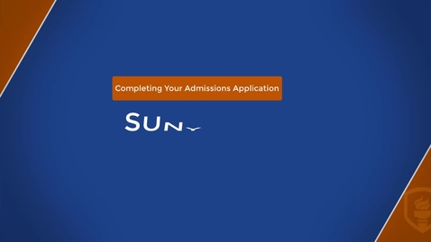 Thumbnail for entry Complete Your Admissions Application Video