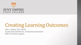 Thumbnail for entry Creating Learning Outcomes