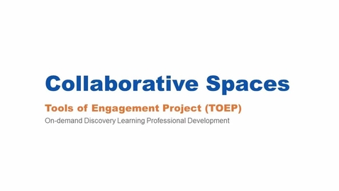 Thumbnail for entry Collaborative Spaces Webinar 3/10/16