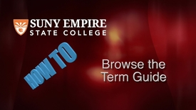 Thumbnail for entry Browsing the Term Guide for Students