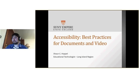 Thumbnail for entry EdTech Webinar series: Accessibility Best Practices 11-20-2016