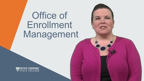 Thumbnail for entry Enrollment Management