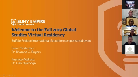 Thumbnail for entry fall19 Virtual Residency keynote - Dr. Dan Nyaronga