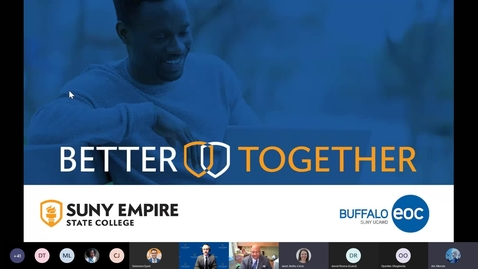 Thumbnail for entry SUNY Empire and the Buffalo Educational Opportunity Center MOU - 2/25/2021