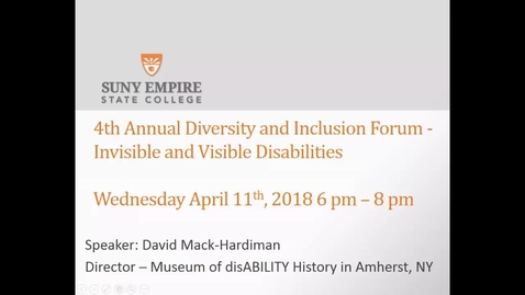 Thumbnail for entry David Mack-Hardiman - Disability History Museum