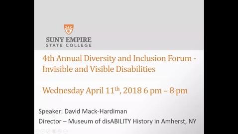 Thumbnail for entry David Mack-Hardiman - Disability History Museum