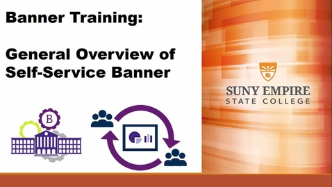Thumbnail for entry Banner Training: Self Service Banner General Overview - Quiz