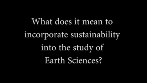 Thumbnail for entry Linda Jones on Sustainability in Earth Sciences