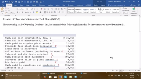 Thumbnail for entry 212064 Introductory Accounting 2 - Problem Demo Exercise 13-7