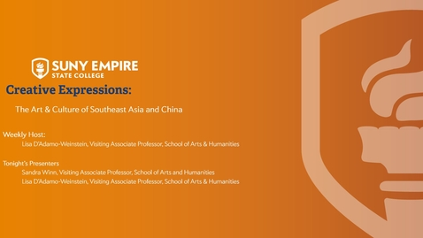 Thumbnail for entry The Art and Culture of Southeast Asia and China