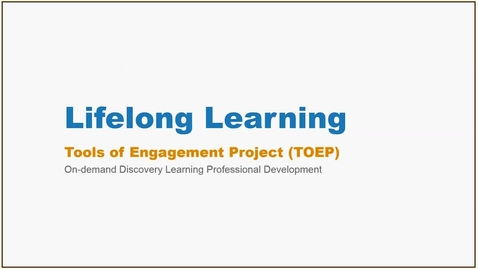 Thumbnail for entry Lifelong Learning Webinar - 01/24/17