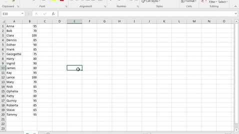 Thumbnail for entry Excel: Basic Skills Part 2: Organizing and Sorting