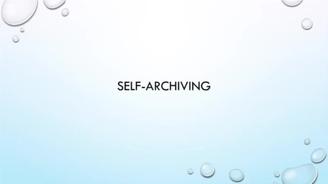 Thumbnail for entry OER Bootcamp 3-1 - the Importance of Self-Archiving (Store/Share a copy!)