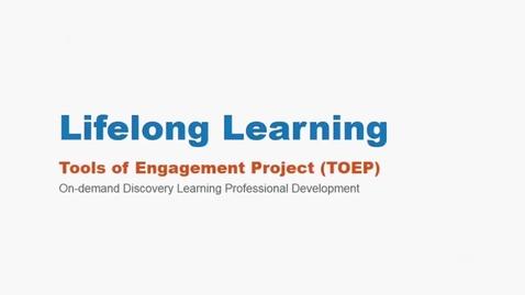 Thumbnail for entry Lifelong Learning Webinar 2/18/16