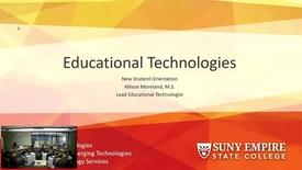 Thumbnail for entry Rochester Orientation Ed Tech Presentation