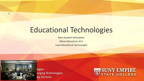 Thumbnail for entry Rochester Orientation Ed Tech Presentation