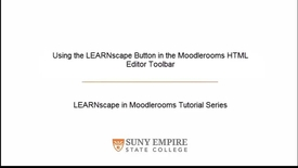 Thumbnail for entry Using the LEARNscape Button in the Moodlerooms HTML Editor Toolbar