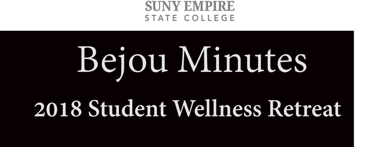 Bejou Minutes 1 2018 Student Wellness Retreat
