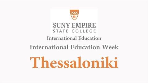 Thumbnail for entry International Education Week 2018