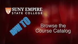 Thumbnail for entry Browsing the Course Catalog for Students