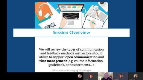 "Thumbnail for entry ""Virtual Study Group Communication and Feedback Methods"" Webinar"