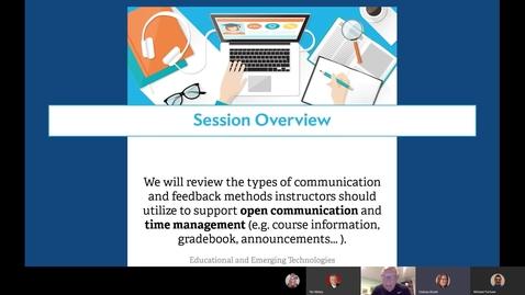 "Thumbnail for entry ""Communication and Feedback Methods"" VSG Webinar Part 3 of 3"