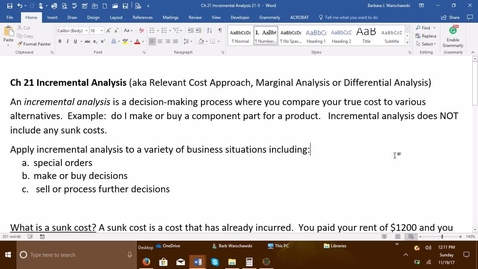 Thumbnail for entry 212064 Introductory Accounting 2 - Problem Demo Exercise 21-6