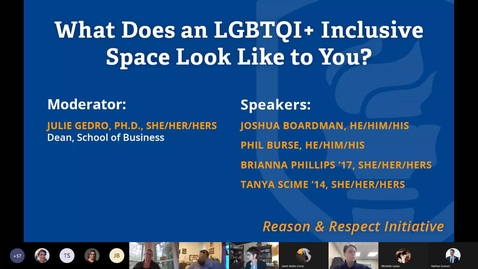 Thumbnail for entry Reason & Respect Speaker Series - Coming out in the Workplace
