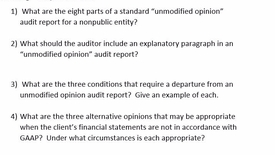 Thumbnail for entry AUDITING - M02 Parts of the Audit Report (w/Explanatory Paragraph)