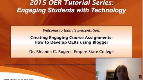 Thumbnail for entry OER Blogger